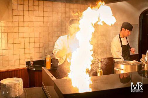 Eventfotograf, Feuer, Catering, Küche