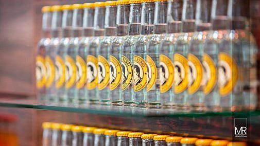 Glasflaschen bei Event